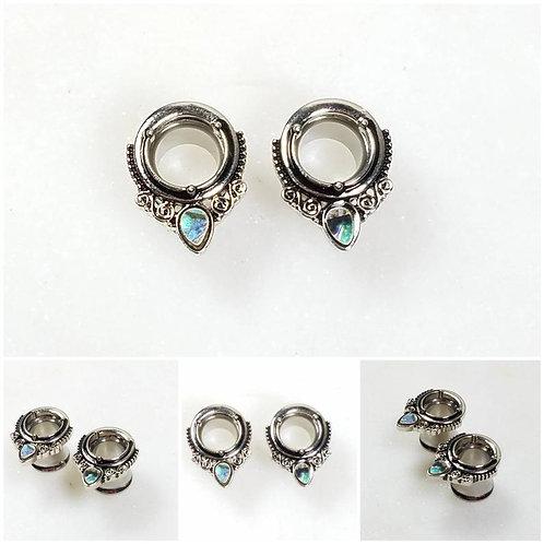 Stainless Steel Memorial Ash Ear Tunnel Body Piercing/Memorial Jewelry/Pet Memor