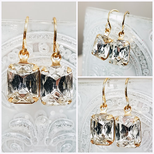 Cremation Crystal Vintage Earrings