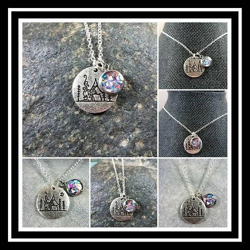Memorial Ash Charm Camping Pendant Necklace/Cremation Pendant/Pet Memorial Jewel