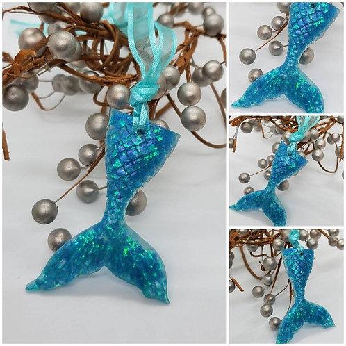 Memorial Cremation Ash Mermaid Tail/Memorial Mermaid/Cremation Ornament