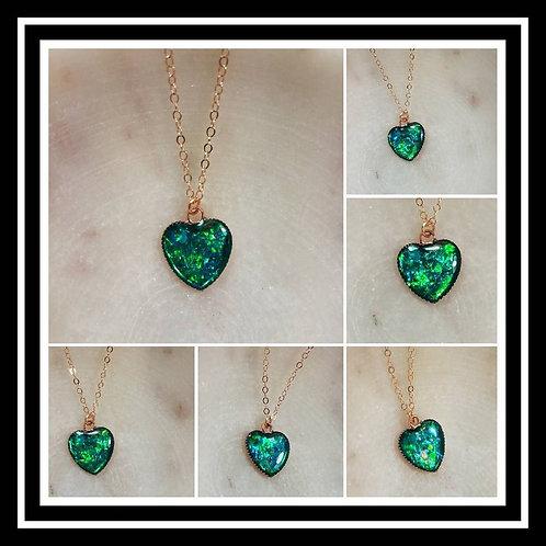 Memorial Ash Cremation Copper Heart Pendant/ Memorial Jewelry/ Ash Necklace/Pet