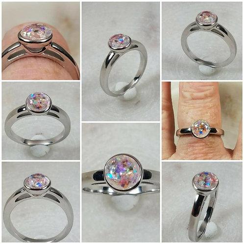 Memorial Ash Sterling Silver Bezel Ring