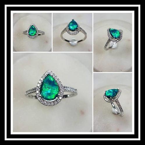 Pear Memorial Ash Cremation Jewelry/ Ash Memorial Ring