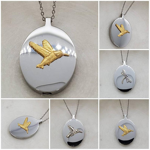 Memorial Ash Stainless Steel Cremation Urn Necklace/Cremation Pendant/Cremation