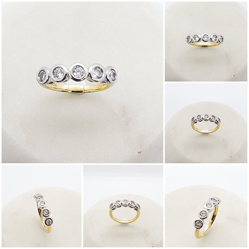 Studiodragonfly19 Minimalist Memorial Ash Sterling Silver Cremation Ring
