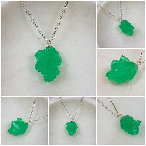 Memorial Ash Crystal Pendant Necklace /Cremation Necklace/Pet Ash Memorial Jewel