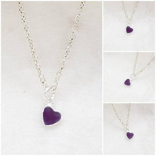 Memorial Ash Sterling Silver Heart Pendant Necklace/Cremation Pendant/Pet Memor