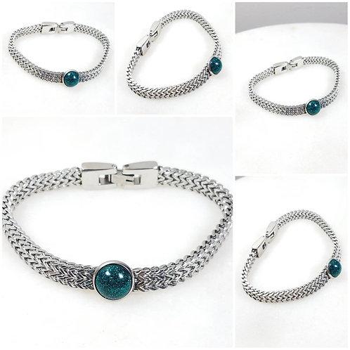 Memorial Ash Stainless Steel Bracelet/Mens Cremation Bracelet/Unisex Pet Memoria