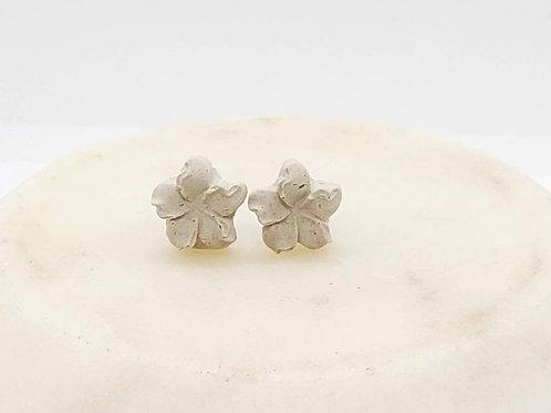 Memorial Ash Concrete Flower Plumeria Earrings/Cremation Earrings/Pet Memorial