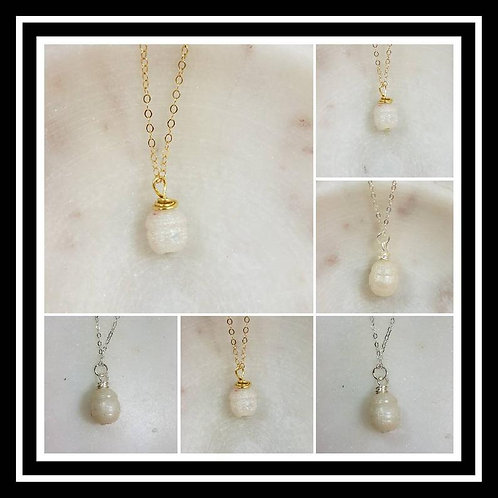 Memorial Ash Fresh Water Pearl Style Pendant Necklace/Cremation Memorial Jewelry