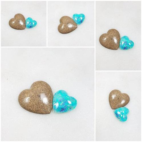 Memorial Ash Heart Stones/Memorial Ash Small Heart Stone/Ash Stones/Pet Memorial