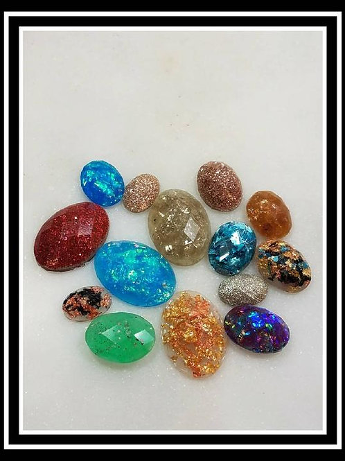 Memorial Ash Oval Faceted Cremation Stones