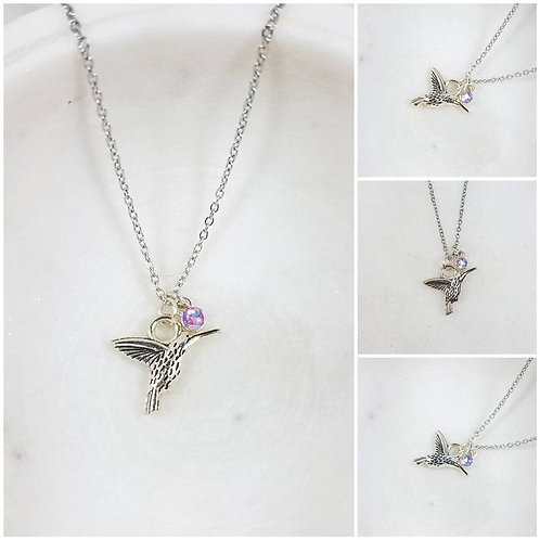 Cremation Hummingbird Memorial Pendant/Ash Memorial Necklace/Pet Memorial/Cremat