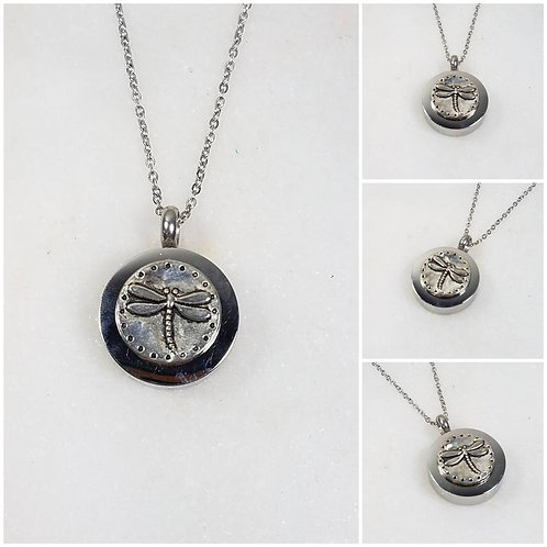 Memorial Ash Stainless Steel Cremation Dragonfly Urn Necklace/Cremation Pendant/