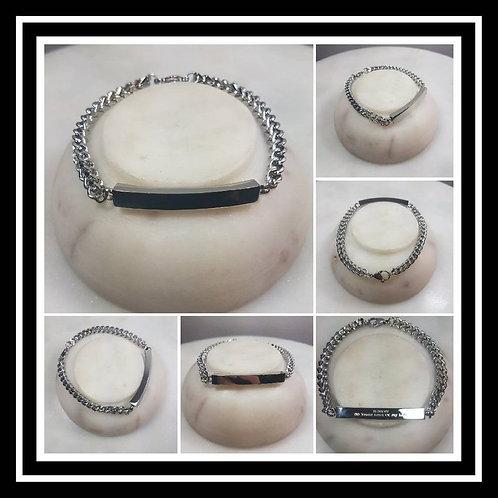 Memorial Personalized Stainless Steel Engraved Urn Cremation Bracelet/Pet Memori