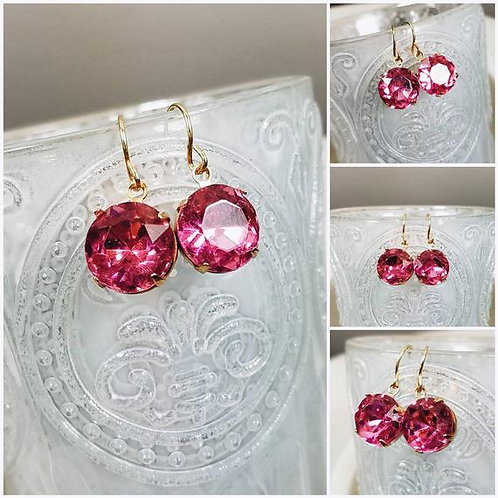 Studiodragonfly19 Cremation Vintage Pink Rose Memorial Ash Earrings