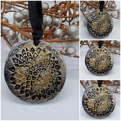 Cremation Memorial Ash Flower Holiday Ornament/Essential Oil Ornament
