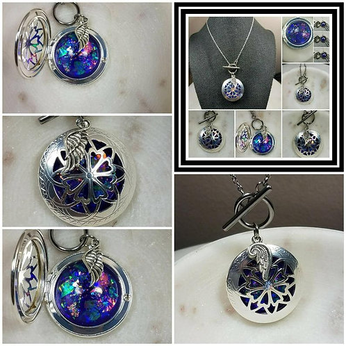 Memorial Ash Toggle Angel Wing Locket Pendant Necklace/Cremation Pendant/Pet Mem