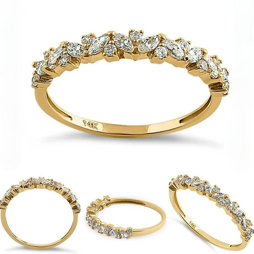 Memorial Ash Minimalist 14k Gold Diamond Marquis