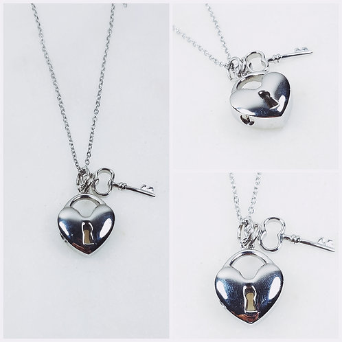 Memorial Ash Stainless Steel Cremation Heart Key Urn Necklace/ Pendant/Cr
