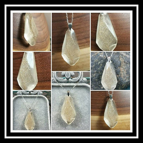 Cremation Faceted Memorial Ash Pendant Necklace/ Pet Memorial/Cremation Jewelry/