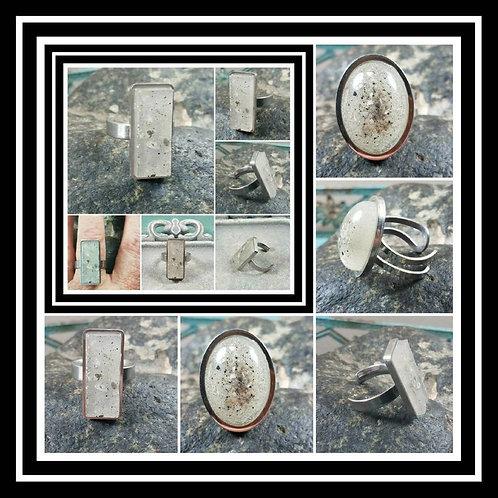 Memorial Ash Stainless Steel Ring/Memorial Ring/Memorial/Cremation Ring/Pet Memo