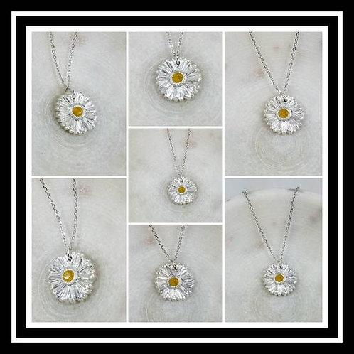 Gerber Daisy Memorial Ash Pendant Necklace