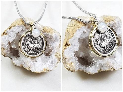 Memorial Ash Silver Plated Angel Corgi Pendant Necklace /Cremation Necklace/Pet