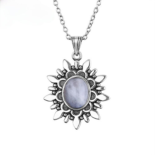 Memorial Cremation Sterling Silver Moonstone Pendant Necklace