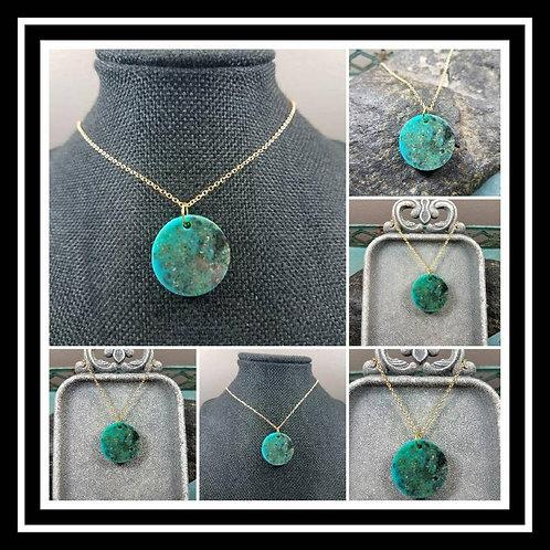 Memorial Ash Stone Turquoise Pendant/Cremation Pendant