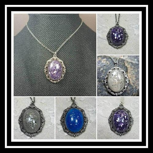 Memorial Ash Pendant Necklace/ Memorial Ash JewelryPet Memorial Jewelry/ Cremati