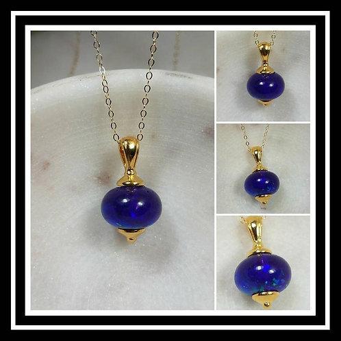 Memorial Ash Bead Pendant Necklace/Cremation Pendant/Pet Memorial Jewelry/Cremat