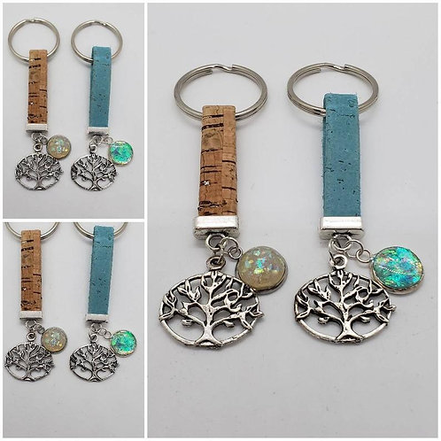 Memorial Ash Tree of Life Cork Keychain/Cremation Keychain/Pet Memorial Bracelet