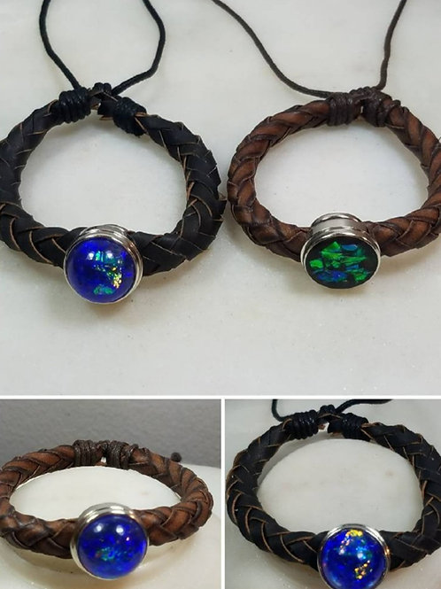 Cremation Leather Bracelet