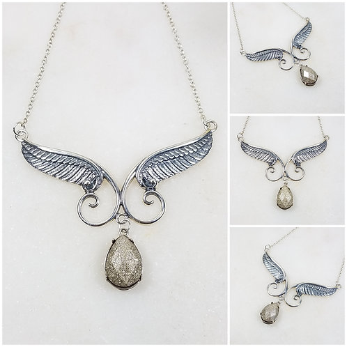 Sterling Silver Angel Wing Cremation Pendant