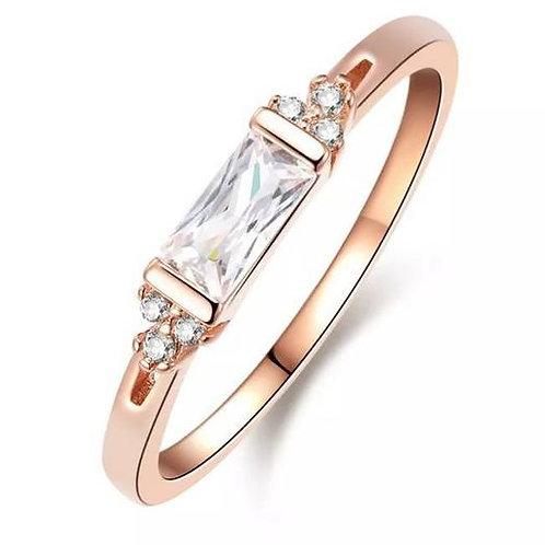 Studiodragonfly19 Memorial Ash Minimalist Gold Baguette Bezel Ring