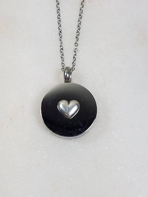 Memorial Ash Stainless Steel Sterling Silver Heart Cremation Urn Necklace/Cremat