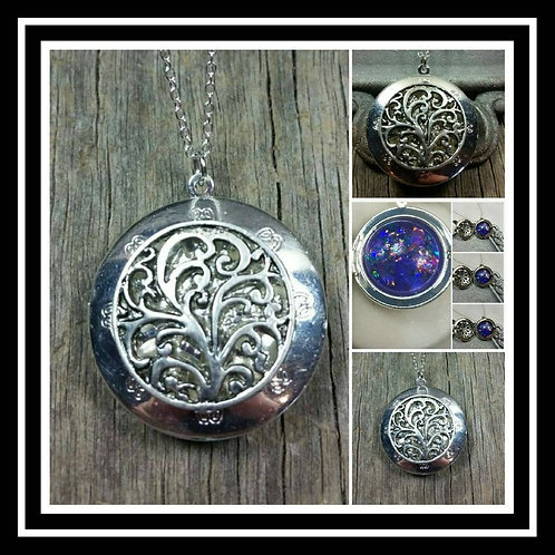 Memorial Ash Vine Locket Pendant Necklace/Cremation Pendant/Pet Memorial Jewelry
