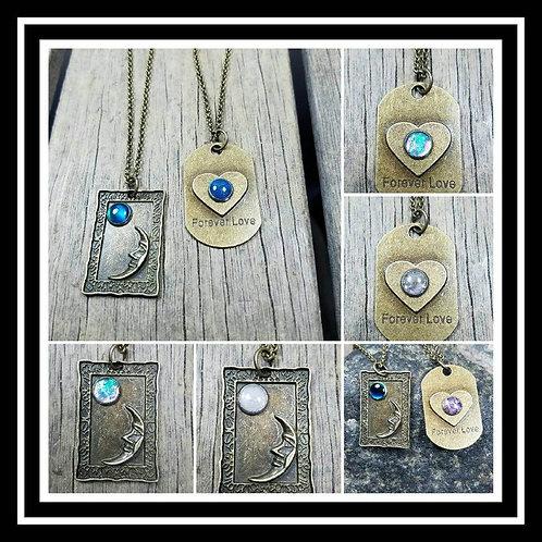 Memorial Ash Pendant Necklace/Ash Necklace/Cremation Necklace/Cremation Jewelry/