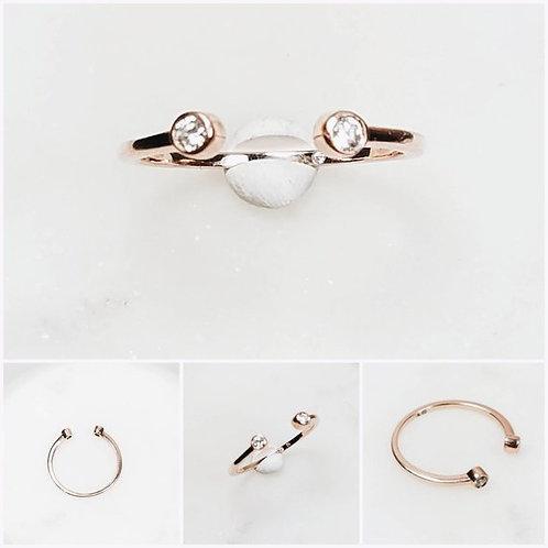 Studiodragonfly19 Cremation Memorial Ash Double Minimalist10k Bezel Ring