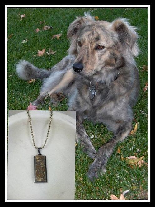 Memorial Ash Custom Color Stone Necklace