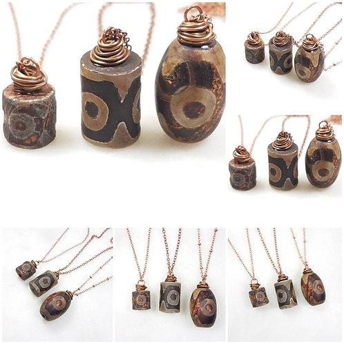 Studiodragonfly19 Cremation Tibetan Agate Stone Memorial Ash Pendant/Memorial As