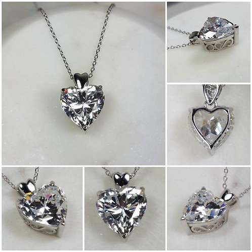 Studiodragonfly19 Memorial Ash Sterling Silver Cremation Heart Pendant