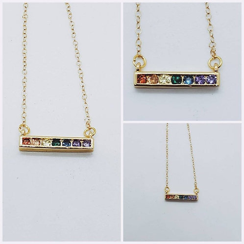 Studiodragonfly19 Memorial Ash Cremation Bar Rainbow Bridge Necklace