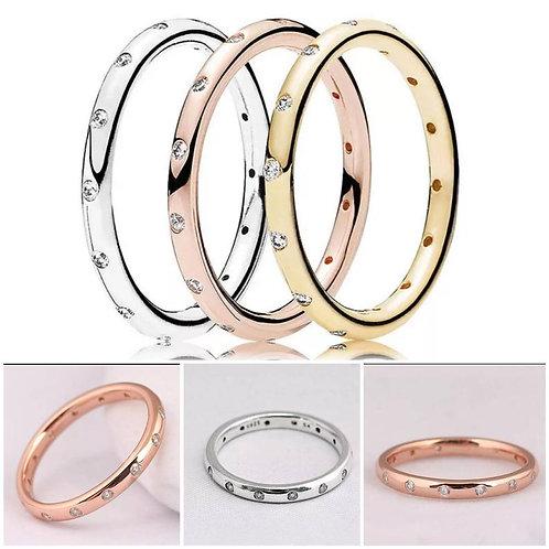 Studiodragonfly19 Memorial Ash Minimalist White Gold CZ Bezel Ring