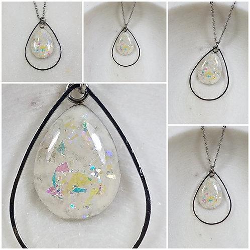 Tear Drop Memorial Ash Necklace/Cremation Necklace