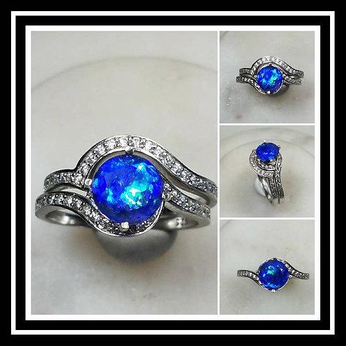 Memorial Ash Sterling Silver/Gold Ring/Memorial Ring/ Memorial/Cremation Ring/Pe
