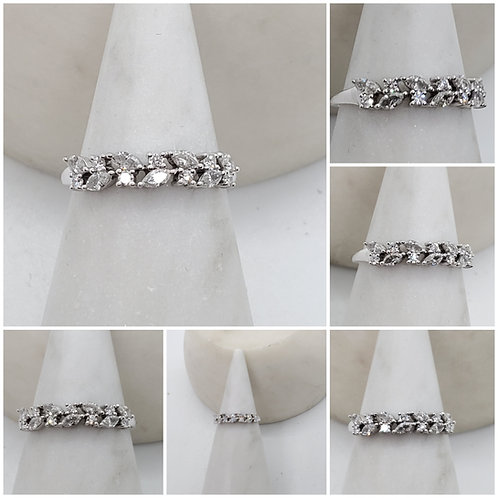 Studiodragonfly19 Memorial Ash Gold Leaf Diamond Band Ring/Memorial Ash Jewelry