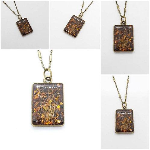 Bronze Memorial Ash Pendant Necklace /Ash Necklace /Cremation Necklace / Cremati