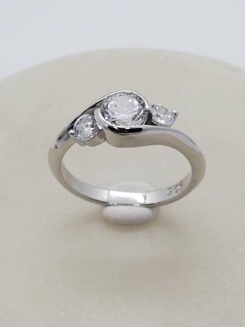 Studiodragonfly19 Memorial Ash Sterling Silver 3 Stone Cremation Ring /Memorial